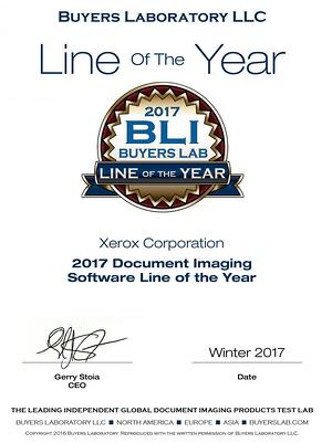 Benchmark is proud to announce our partner, Xerox, has won the BLI Document Imaging Software Line of the Year Award.