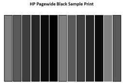 HP Pagewide Black Sample Print