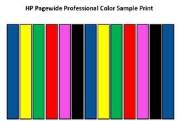 HP Pagewide Professional Color Sample Print