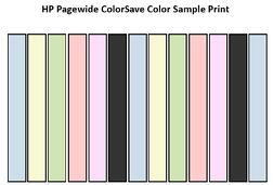 HP Pagewide ColorSave Color Sample Print