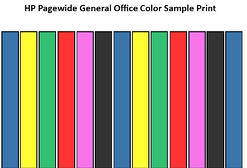 HP Pagewide General Office Color Sample Print