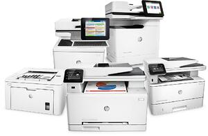 HP printers offered by Benchmark